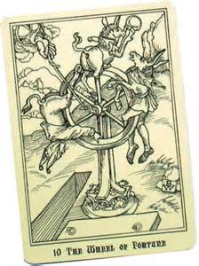Wheel of Fortune Tarot card Picture courtesy of alofsaxu.com