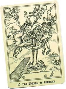 Wheel of Fortune Tarot card Picture courtesy of alofsaxu.com