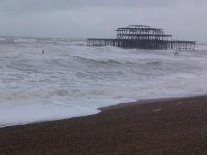 'Angry Seas' (Brighton Beach) taken by Darren Greenidge