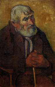 Paul Gauguin - Old man with walking stick. Picture courtesy of www.repro-tableaux.com