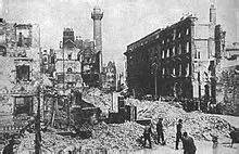 Sackville Street, better known as O'Connell Street, Dublin, just after the 7 day Easter Uprising. Picture courtesy of en.wikipedia.org