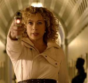 River Song played by the brilliant Alex Kingston. Picture courtesy of www.boomtron.com
