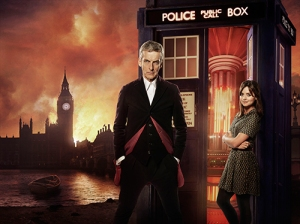 Peter Capaldi and Jenna Coleman in Doctor Who: Ray Burmiston, ©BBC/BBC Worldwide 2014