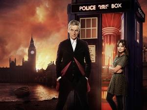 Peter Capaldi and Jenna Coleman in Doctor Who: Ray Burmiston, ©BBC/BBC Worldwide 2014
