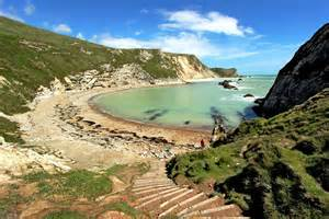Man O' War Cove, on the South West Coast Path in Dorset, England