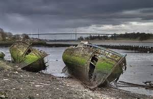 Bowling Harbour Boat Graveyard, Scotland Picture courtesy of www.urbanghostsmedia.com