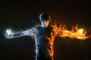 Fire and Ice Boy - tumblr.com